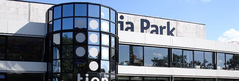 Het gebouw van Talpa op het mediapark in Hilversum